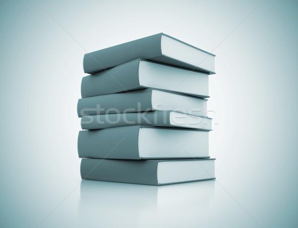 Boglya könyvek diák háttér oktatás zöld Stock fotó © jezper
