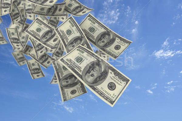 Falling money blue sky  Stock photo © jezper