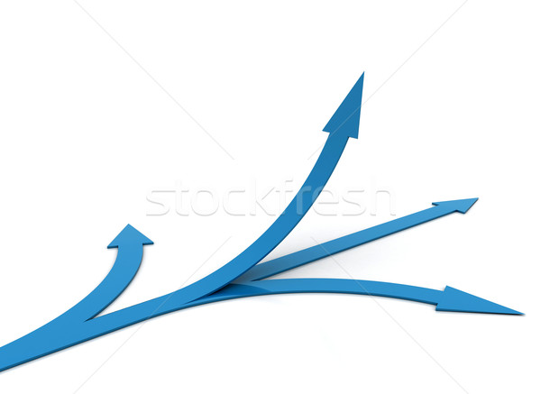 Arrows pointing in different directions  Stock photo © jezper