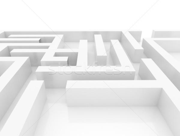 Сток-фото: лабиринт · 3d · иллюстрации · стены · фон · успех · цифровой
