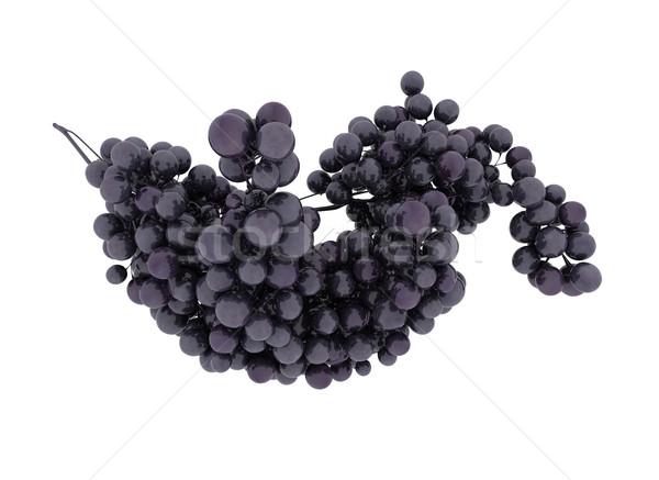 Azul uva isolado branco fruto Foto stock © jezper