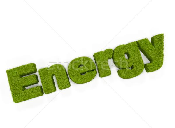 Groene energie illustratie gras energie plant creatieve Stockfoto © jezper