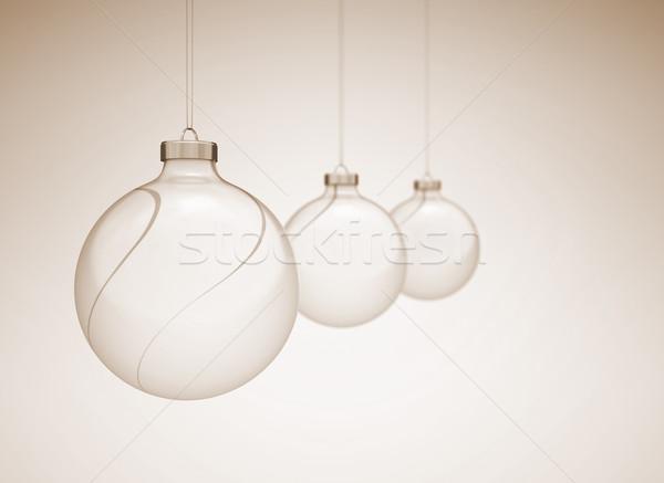 Christmass balls image with slight dof Stock photo © jezper