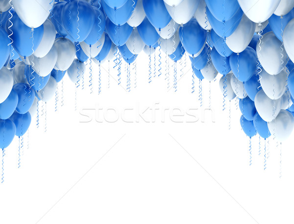 Balloons blue and white Stock photo © jezper