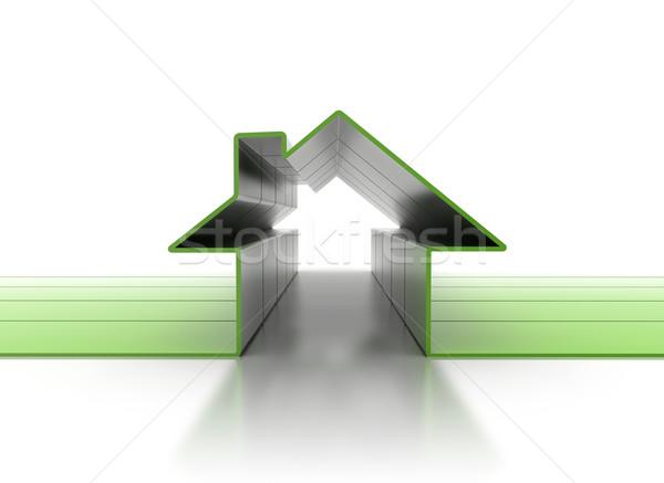 House symbol 3D Stock photo © jezper