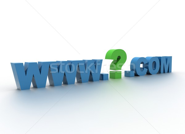 Domain - what domain name to choose  Stock photo © jezper