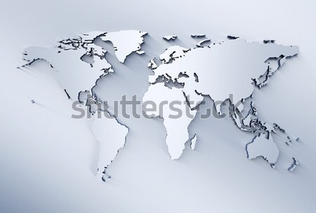Meatl business world map  Stock photo © jezper