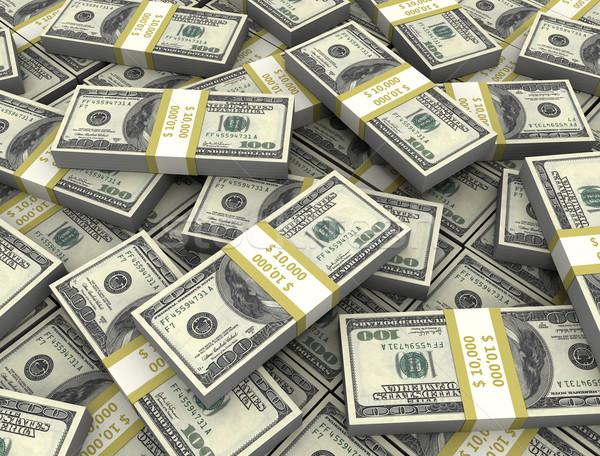 3d illusztráció dollár bankjegyek magas döntés pénz Stock fotó © jezper