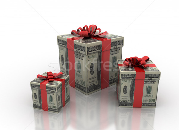 cash gifts isolated on a white background  Stock photo © jezper