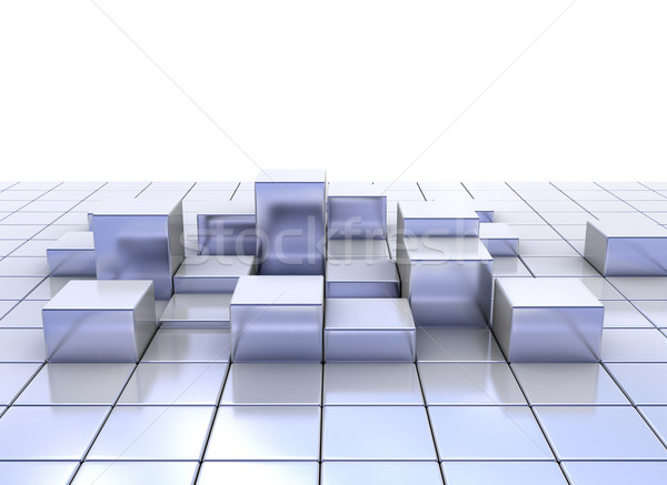 Abstract metal cubes  Stock photo © jezper