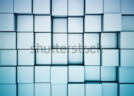 Resumen metal cubos edificio diseno cuadro Foto stock © jezper