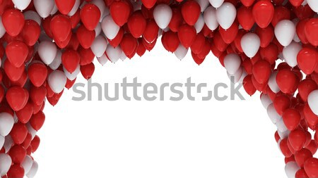 Red and white balloons isolated on white Stock photo © jezper