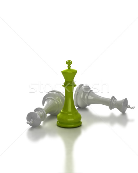 Rey del ajedrez pie juego diseno ajedrez grupo Foto stock © jezper