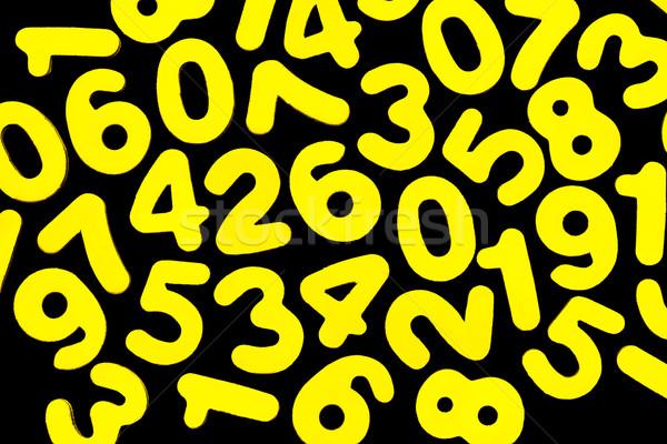 黄色 番号 黒 明るい ゼロ 9 ストックフォト © JFJacobsz