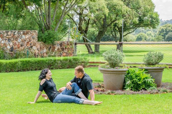 Couple on Lawn Stock photo © JFJacobsz