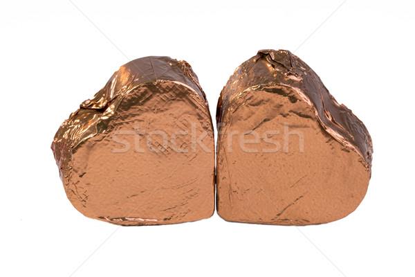 Two Chocolate Hearts Stock photo © JFJacobsz