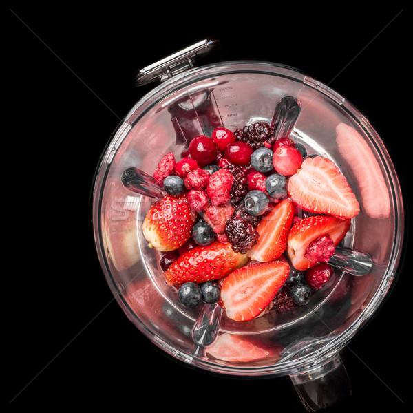 混合した 液果類 ブレンダー 自然 イチゴ 健康 ストックフォト © JFJacobsz