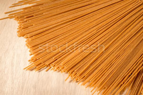 Stock photo: Wholewheat Spaghetti