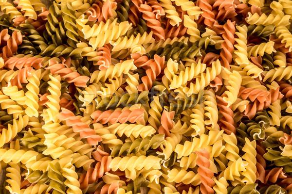 Imagen tres diferente colores agua alimentos Foto stock © JFJacobsz