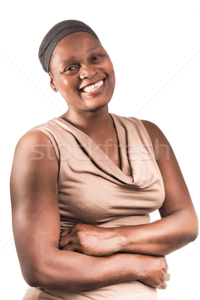 Three Quarter Portrait of African Lady on White. Stock photo © JFJacobsz