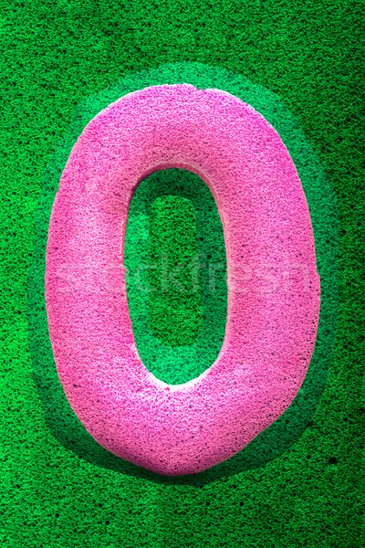 Numero pari a zero rosa spugna come texture Foto d'archivio © JFJacobsz