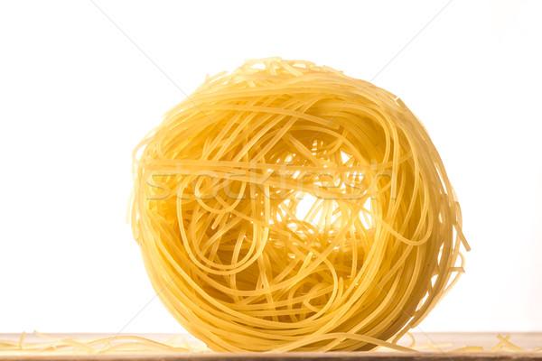 Een bal engelen haren pasta witte Stockfoto © JFJacobsz
