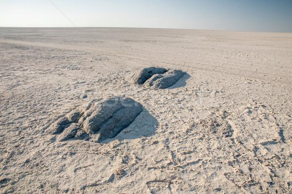 Granite extrusions inside Makgadikgadi Salt Pan. Stock photo © JFJacobsz