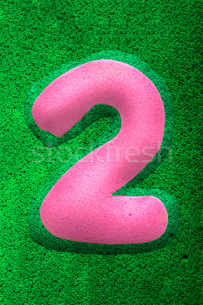 Number Two in Pink Stock photo © JFJacobsz