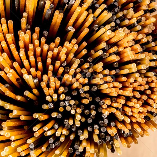 Mixto espaguetis superior agua textura pasta Foto stock © JFJacobsz