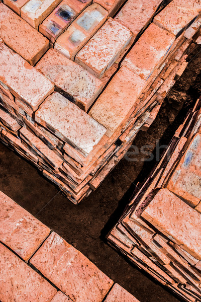 Bricks stacked in Squares Stock photo © JFJacobsz