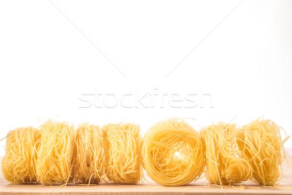 Angyalok haj tészta vonal hét golyók Stock fotó © JFJacobsz