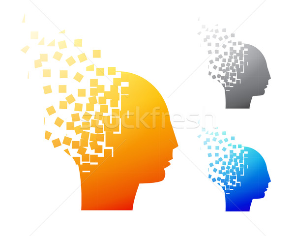 Abstract brain logo or Alzheimer symbol Stock photo © jiaking1