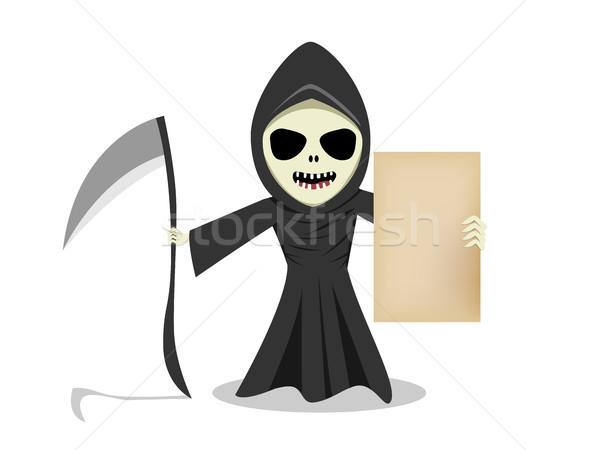 Szörnyű előadás üres régi papír vektor rajz Stock fotó © jiaking1