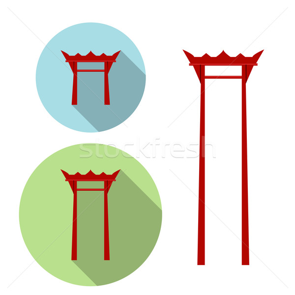 Giant Swing, torii gate icon Stock photo © jiaking1