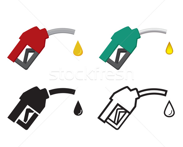 fuel nozzle and oil drop, oil energy icon Stock photo © jiaking1
