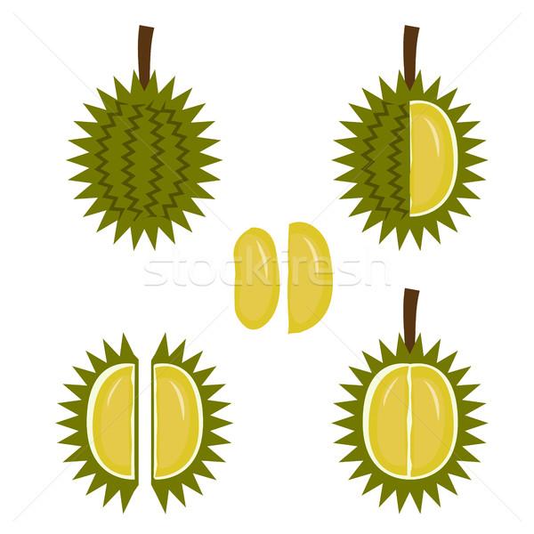 Frutas icono estilo vector verano verde Foto stock © jiaking1