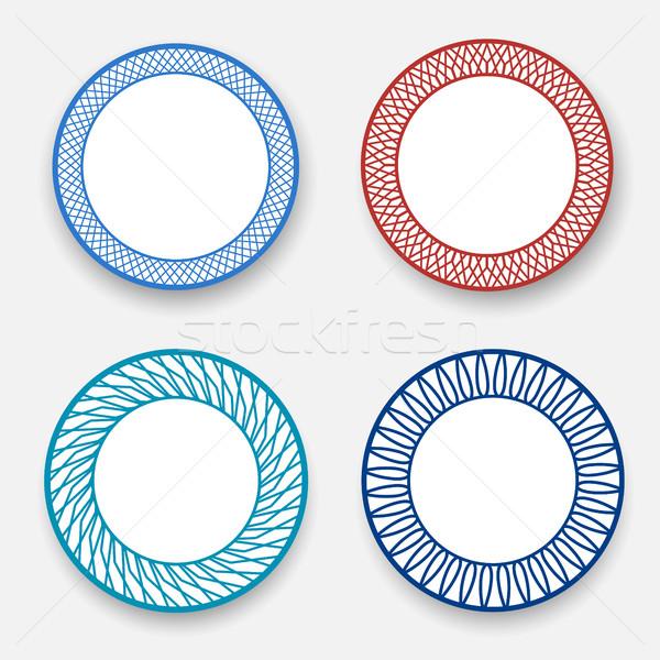 Vacío blanco plato moderna patrón vector Foto stock © jiaking1