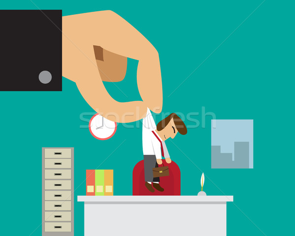 Businessman get new job or promoted from his boss Stock photo © jiaking1