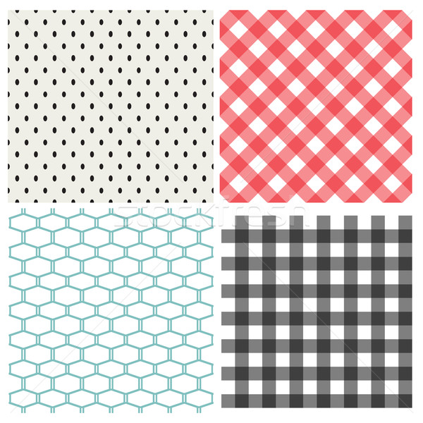Set of classic seamless pattern, vector Stock photo © jiaking1