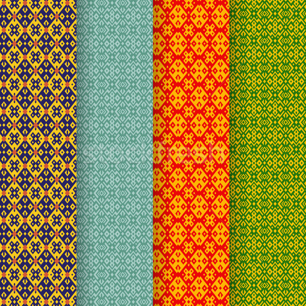 Set of batik seamless pattern in tribal asia style Stock photo © jiaking1