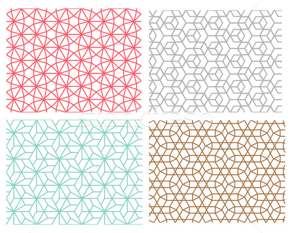seamless pattern in mesh style hexagon concept Stock photo © jiaking1