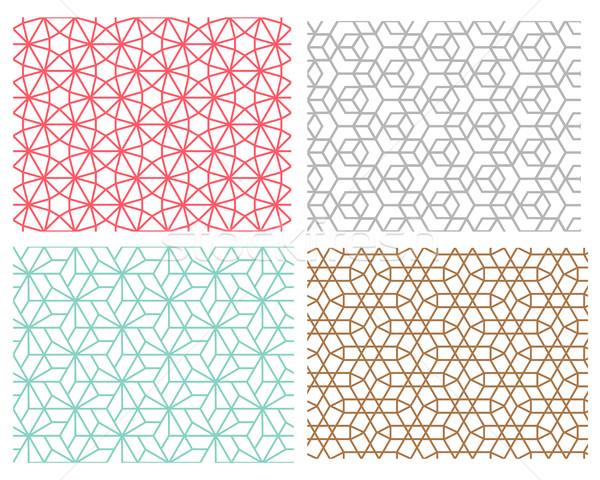 стиль шестиугольник набор геометрический Сток-фото © jiaking1