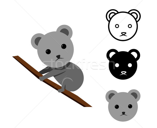 Koala bear in flat and icon, vector Stock photo © jiaking1