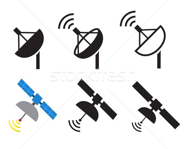 Satellite icônes vecteur télévision design Photo stock © jiaking1
