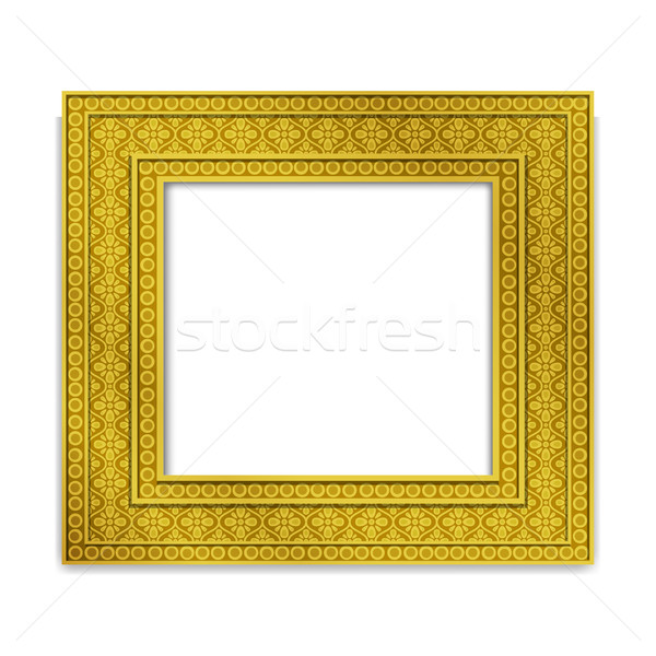 Shining golden Indian Photo frame, vector Stock photo © jiaking1