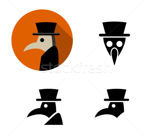 Set of Plague doctor icons, vector Stock photo © jiaking1
