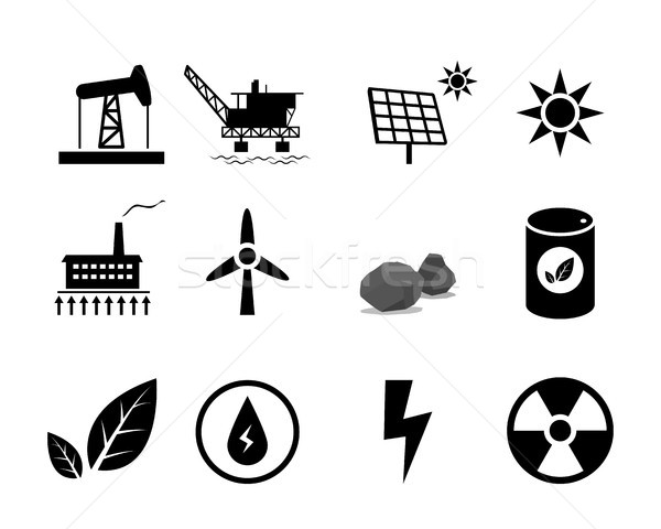 Set of Electricity generation icon for infographic Stock photo © jiaking1