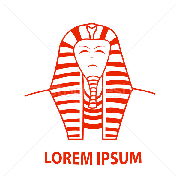 Sphinx and Egypt Pharaoh logo, vector Stock photo © jiaking1