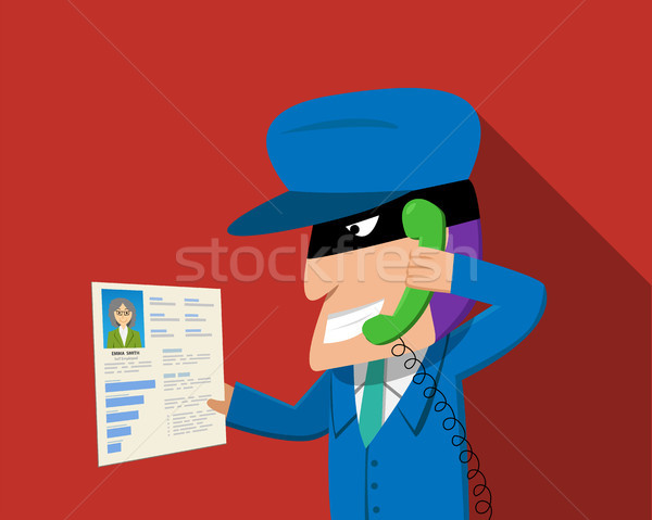 Scammer calling to senior woman for threaten Stock photo © jiaking1