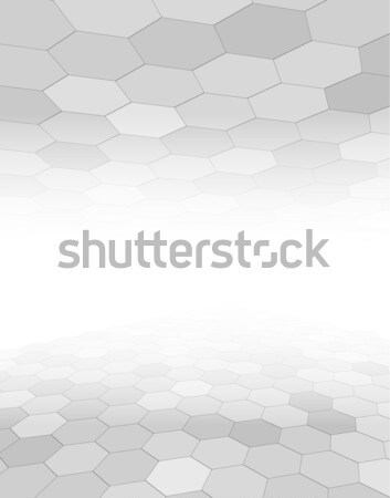 Grijs abstract zeshoek patroon vector business Stockfoto © jiaking1